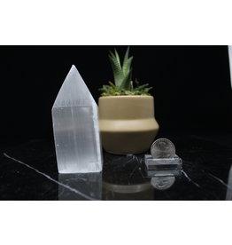 """Selenite/Satin Spar Obelisk-4"""" Small"""