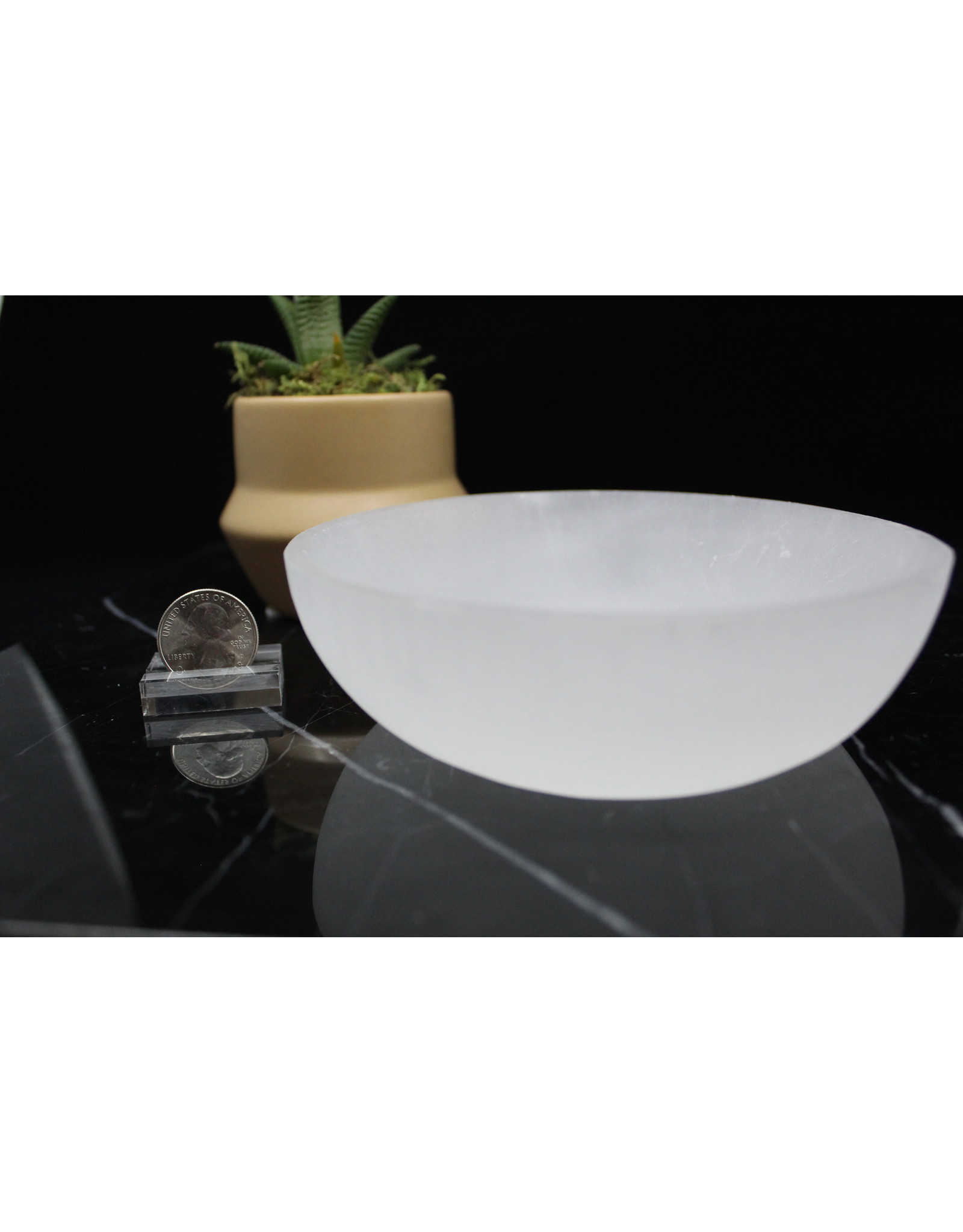 Selenite/Satin Spar Charging Bowl - Large