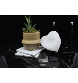 Small Heart Selenite Candle Holder