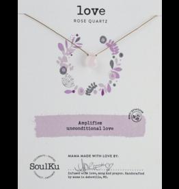 Rose Quartz Necklace for Love-SoulKu