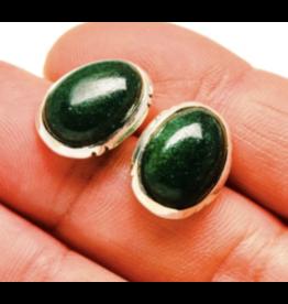 Green Aventurine Earrings - Stud