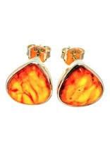 Baltic Amber Earrings - Stud