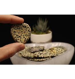 Dalmatian Jasper Heart - Worry Stone