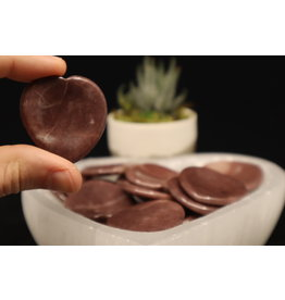 Strawberry Quartz Heart - Worry Stone