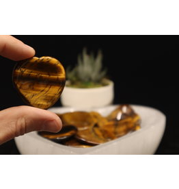 Gold Tigers Eye Heart - Worry Stone