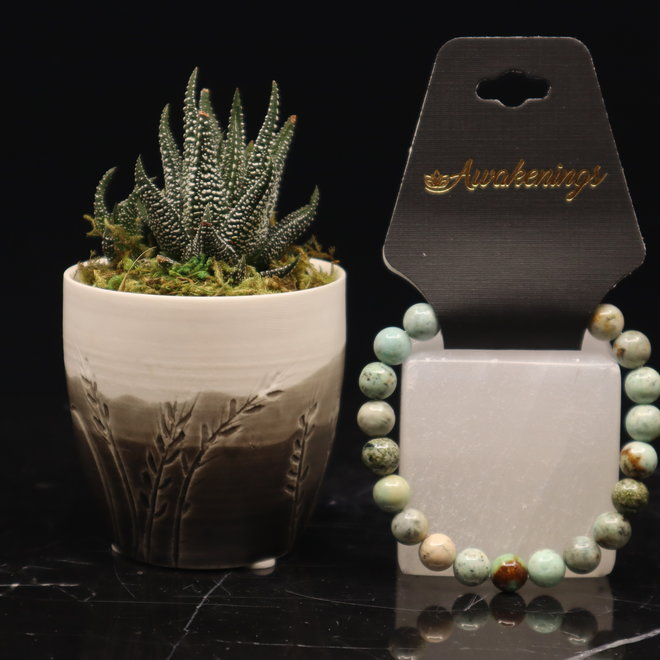 AAA Grade Peruvian Turquoise Bracelet-8mm