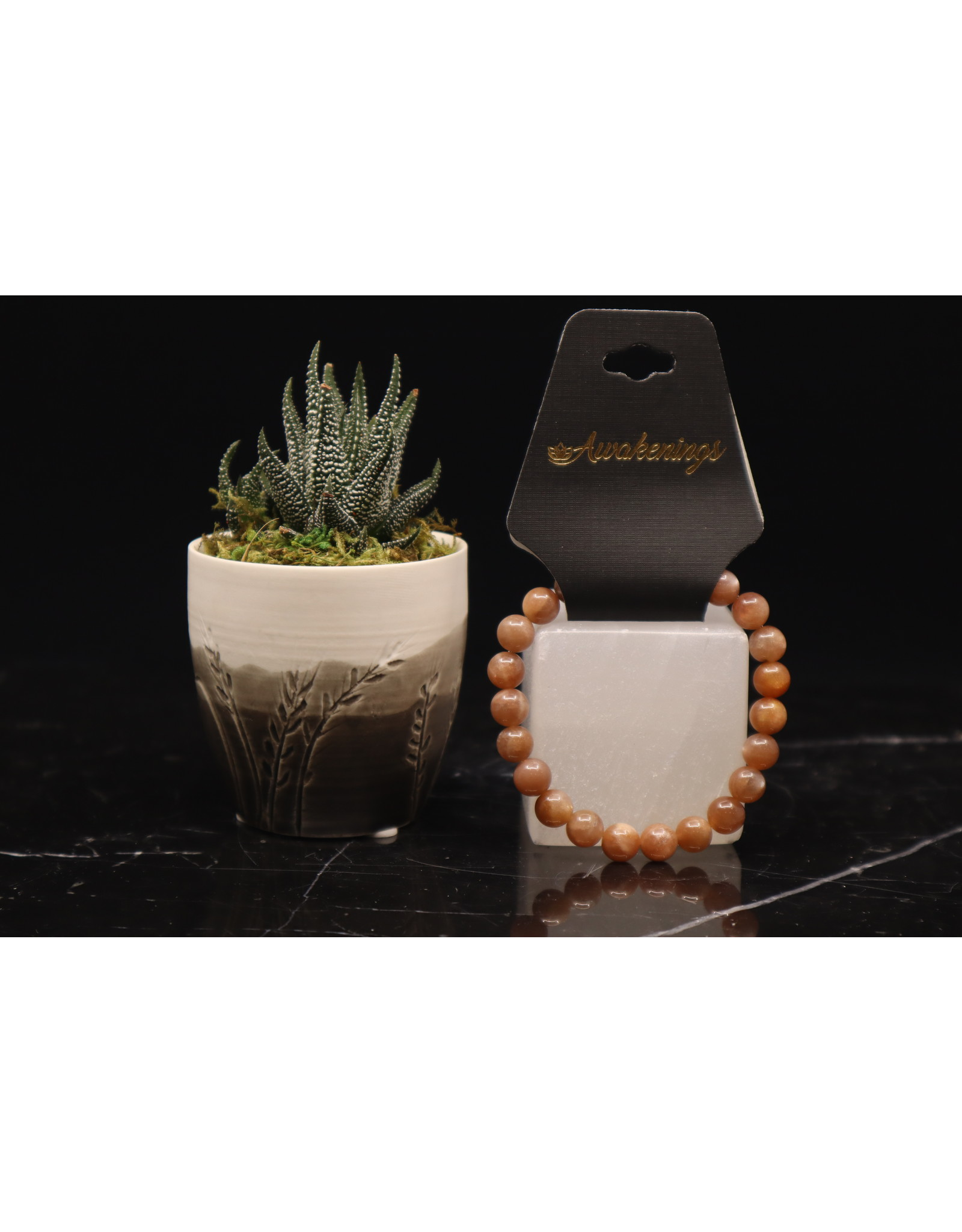 AAA Grade Sunstone Bracelet - 8mm