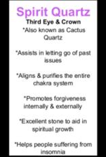 Cactus/Spirit Quartz - White (Medium)
