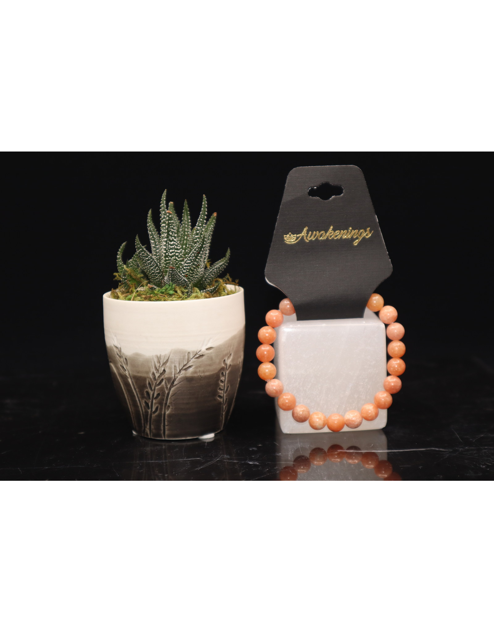 Bracelet -AAA Grade Orange Calcite - 8mm