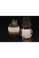 Flower Ocean Jasper/Sea Sediment Bracelet (AAA Grade)-8mm