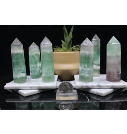 """Green Fluorite Tower Point-Small (1-3"""")"""