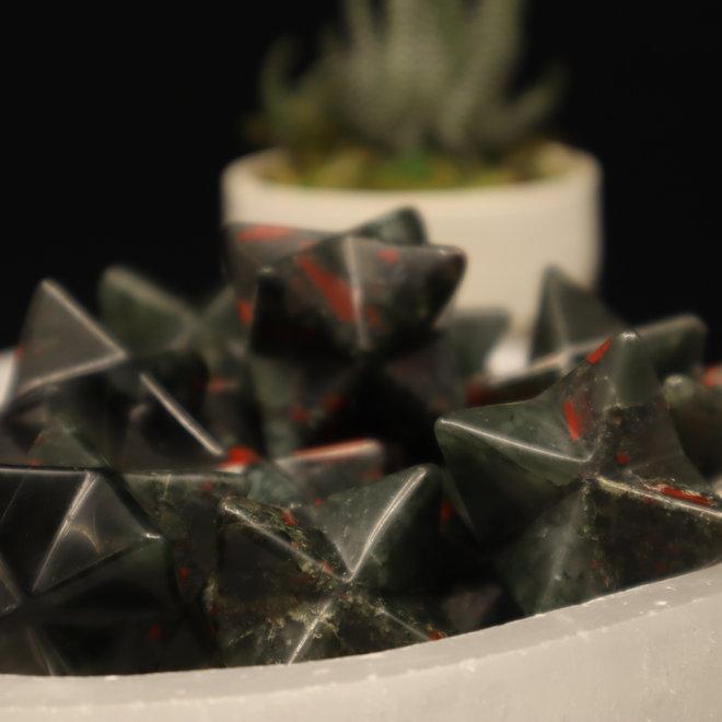 Bloodstone/Heliotrope Merkabah-Medium