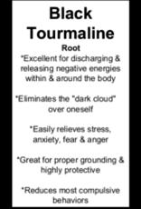 Black Tourmaline Tumbled Pendant