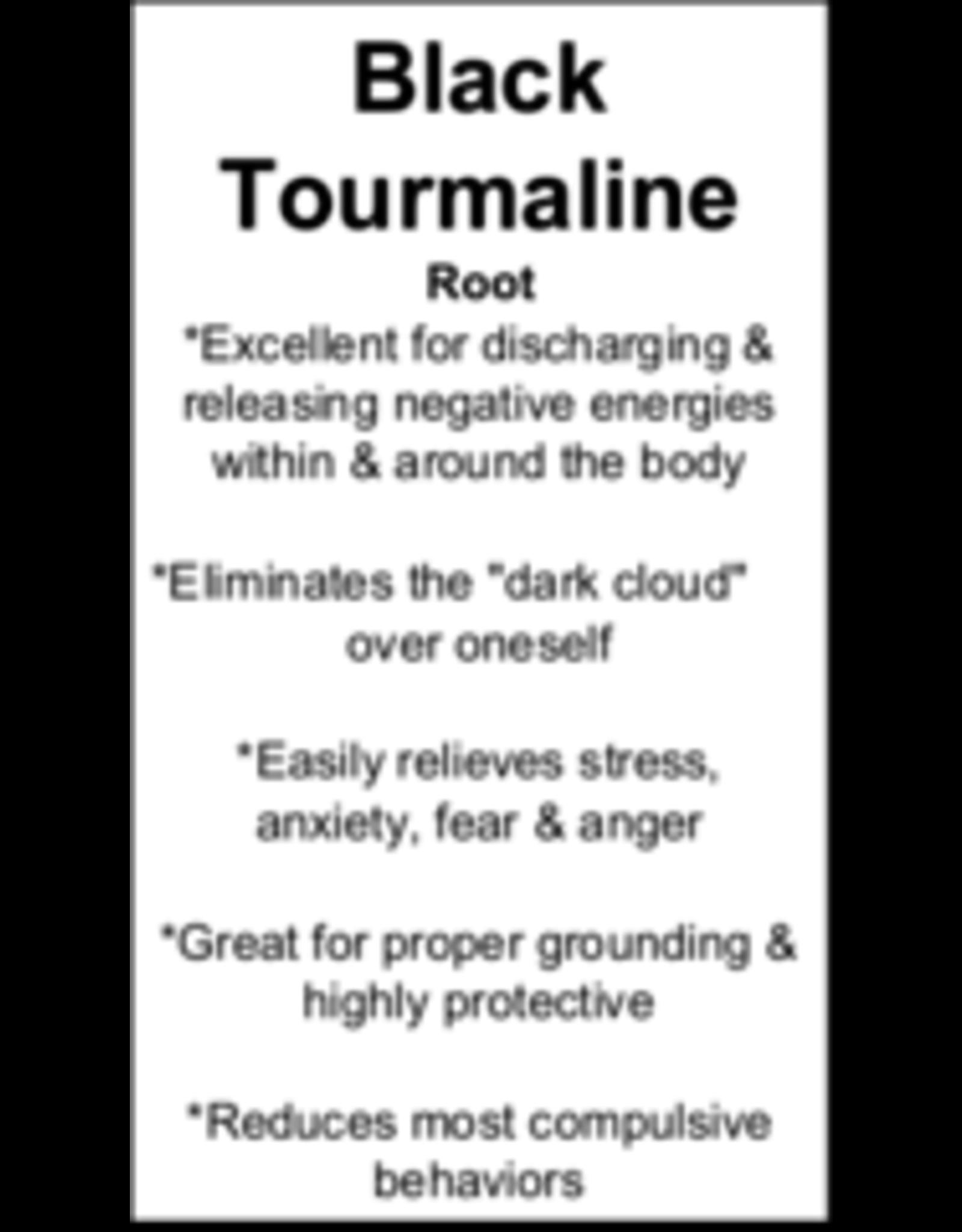 Tumbled Black Tourmaline Pendant