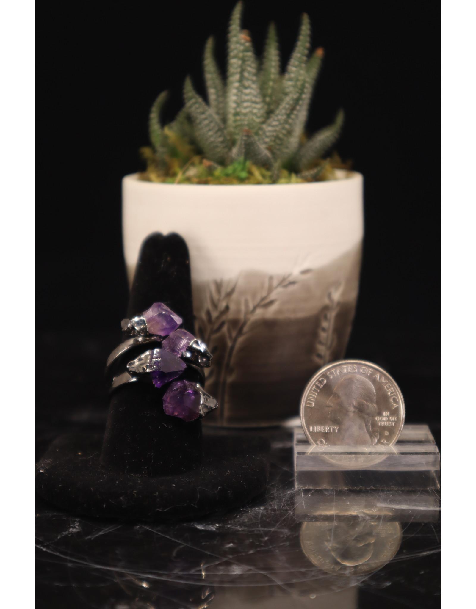 Amethyst Ring - 4 Stone