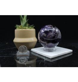 Chevron/Dream Amethyst Sphere Orb-65mm