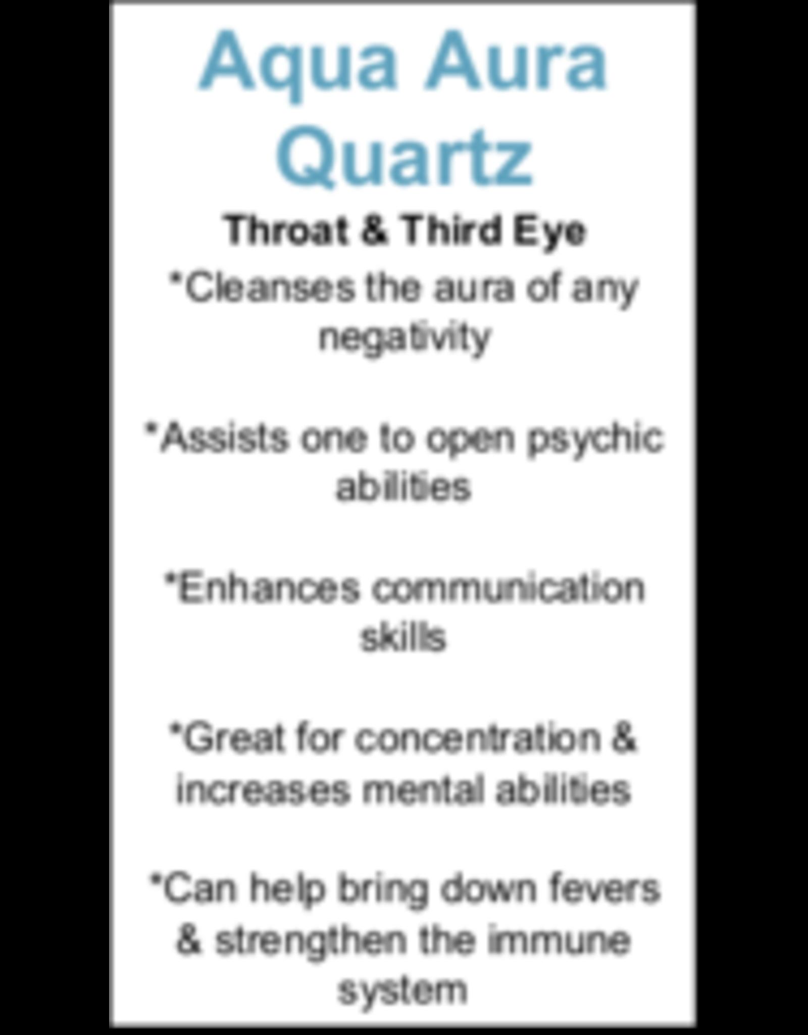 Blue Aura Quartz Heart