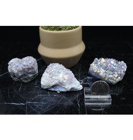 Amethyst Rainbow Aura Cluster-Small