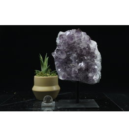 Amethyst on Metal Stand-Large