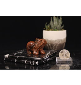 Gold Sandstone Elephant-Medium