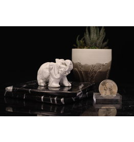 White Howlite Elephant-Medium