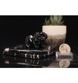 Black Obsidian Elephant-Medium