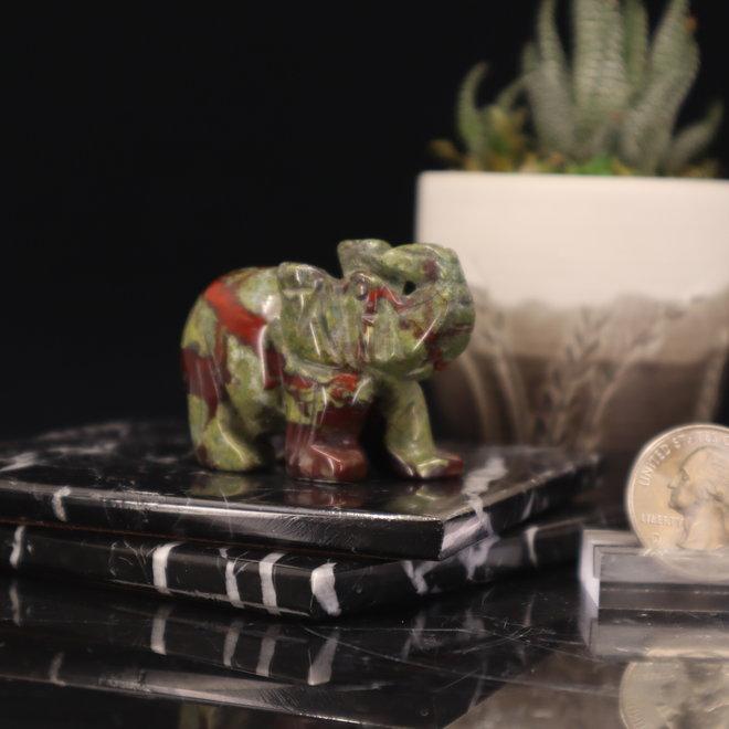 Dragons Blood Jasper Elephant-Medium