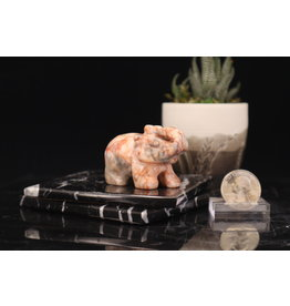 Orange Agate Elephant-Medium