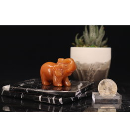 Red Aventurine Elephant-Medium