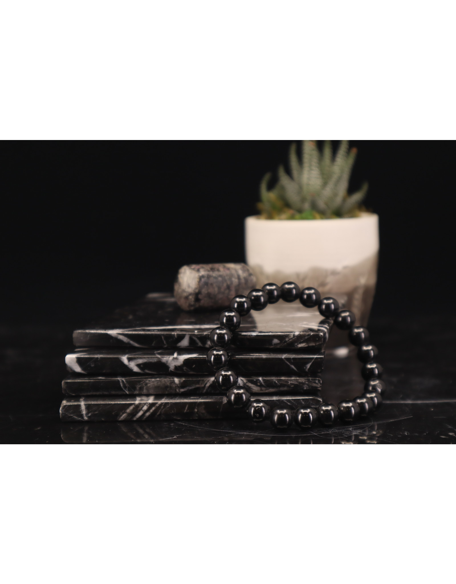 Black Spinel Bracelet - 8mm