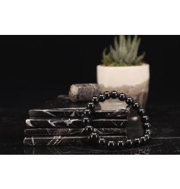 Black Spinel Bracelet - 8mm