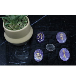 Reiki Symbols on Amethyst Set