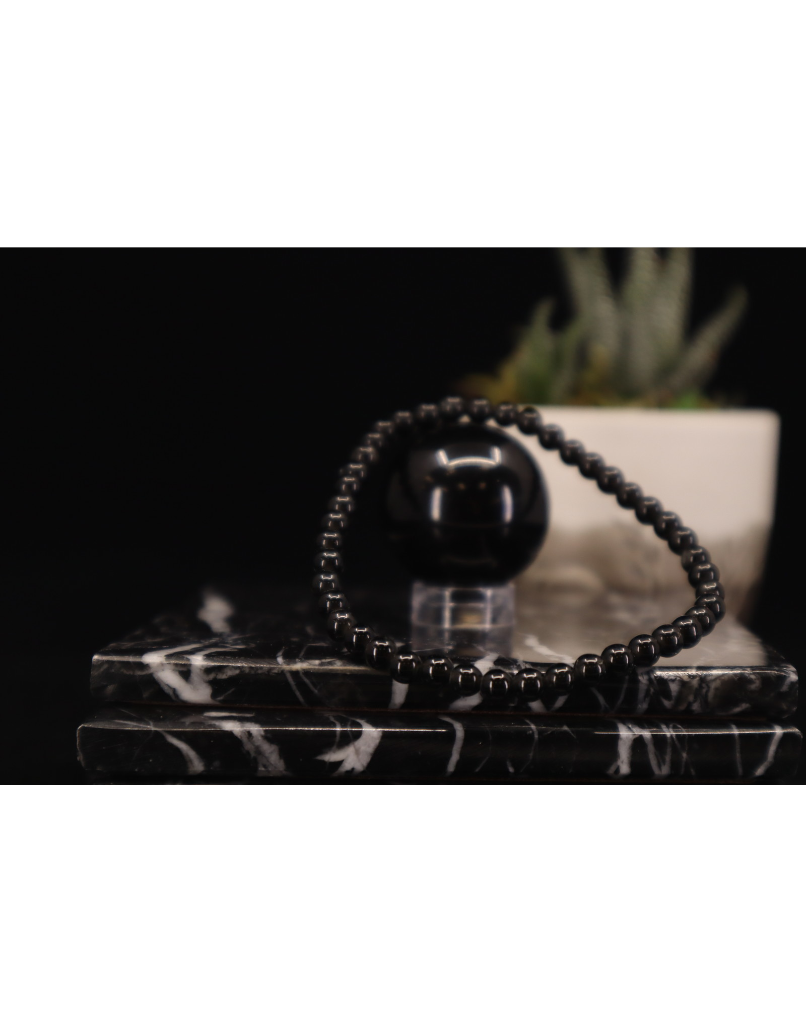Black Obsidian Bracelet - 4mm