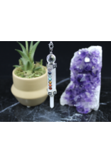 Chakra Pendulum w/ Clear Quartz Point-Clear Quartz