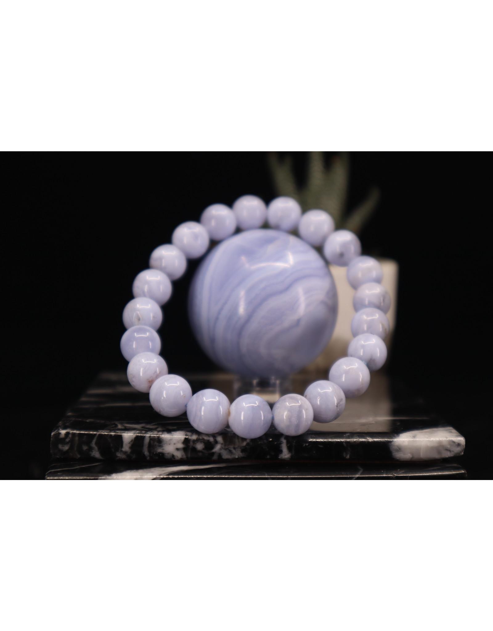 Blue Lace Agate Bracelet - 10mm