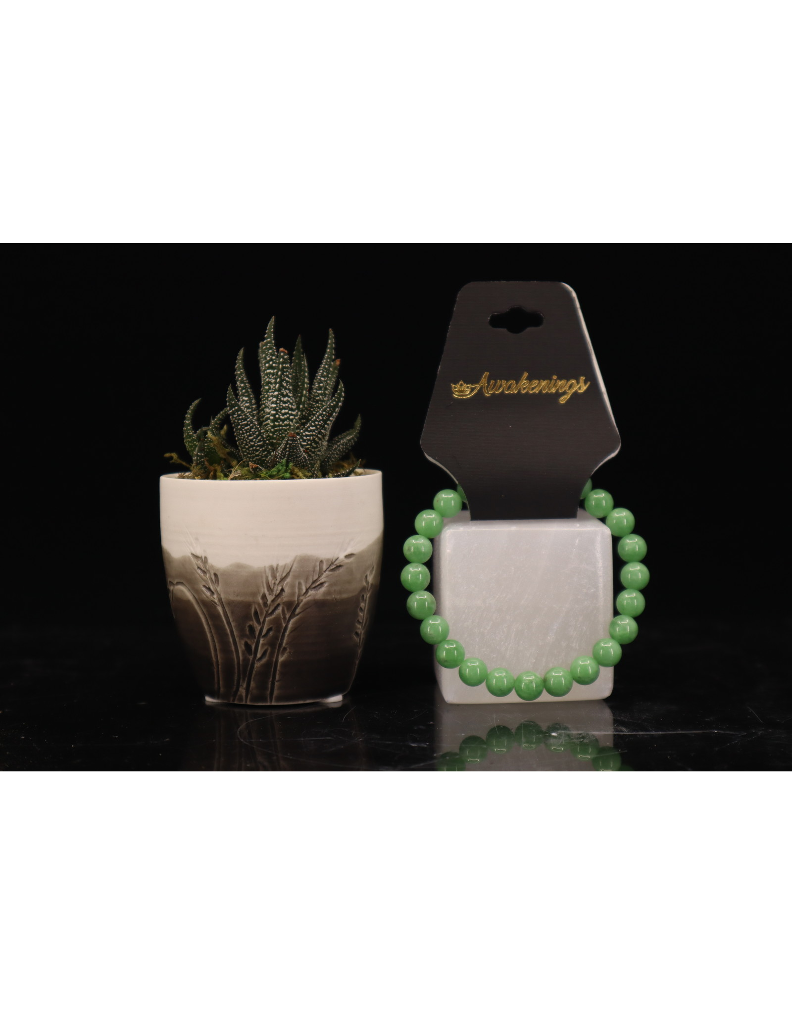 AAA Grade Green Angelite Bracelet - 8mm