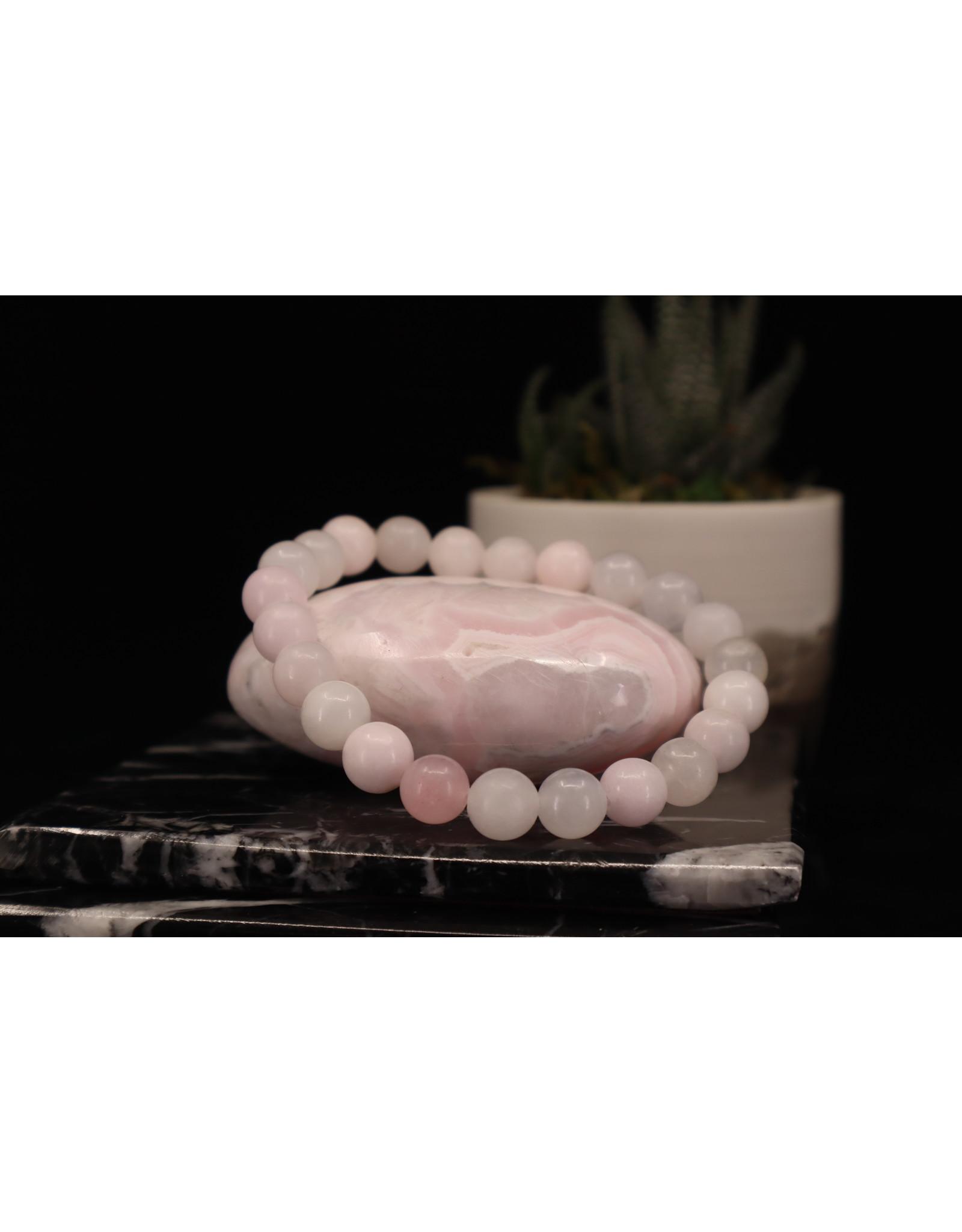 AAA Grade Pink Mangano Calcite Bracelet - 8mm
