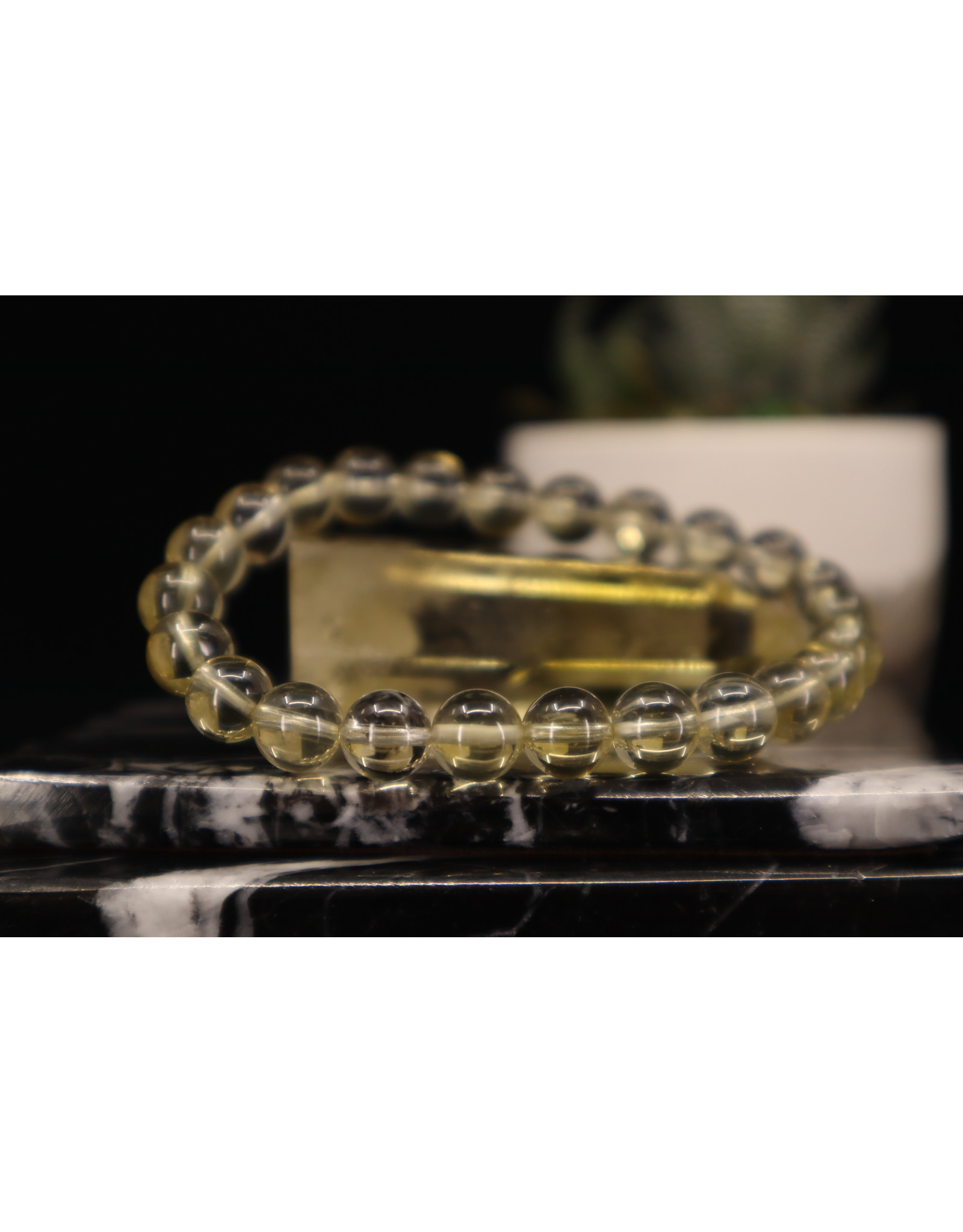 AAA Grade Lemon Quartz Bracelet - 8mm