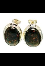 Bloodstone/Heliotrope Earrings - Stud