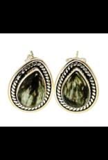 Seraphinite Earrings - Stud
