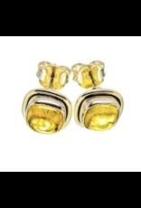 Natural Citrine  Earrings - Stud