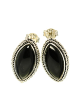 Black Onyx Earrings - Stud
