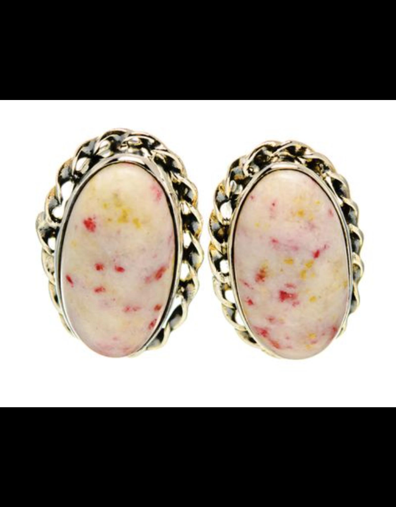 Thulite Earrings - Stud