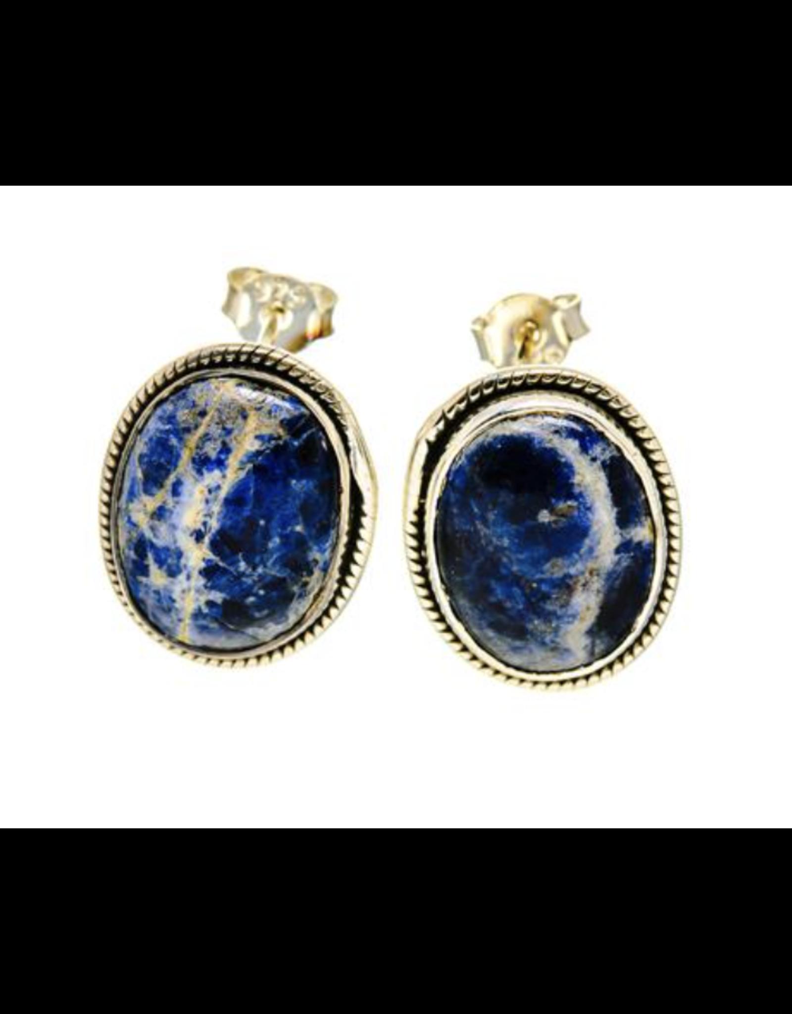 Sodalite Earrings - Stud