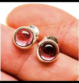 Pink Tourmaline Earrings - Stud
