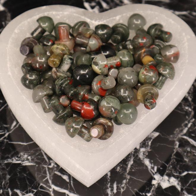 Bloodstone/Heliotrope Mushrooms- Mini