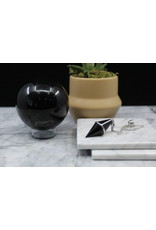 Black Obsidian Diamond Pendulum