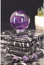 Amethyst & Hematite Shamballa Parachute Bracelet