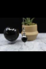 Black Obsidian Round Pendulum