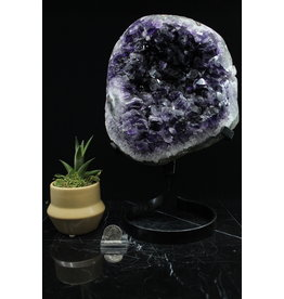 "Amethyst Cluster Druzy on Stand-32"" Tall"